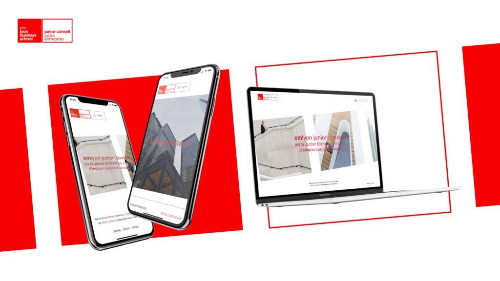 Refonte site internet EM Lyon Junior Entreprise par l'agence web Digital Cover